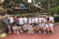 Os finalistas da EB de Boca do Monte no Zoomarine